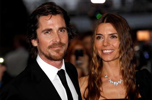 Batman star Christian Bale and his wife Sandra at the London premiere of 'The Dark Knight Rises'