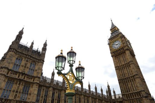 A picture shows a general view of the Palace of Westminster, with the Great Westminster Clock, more commonly known as