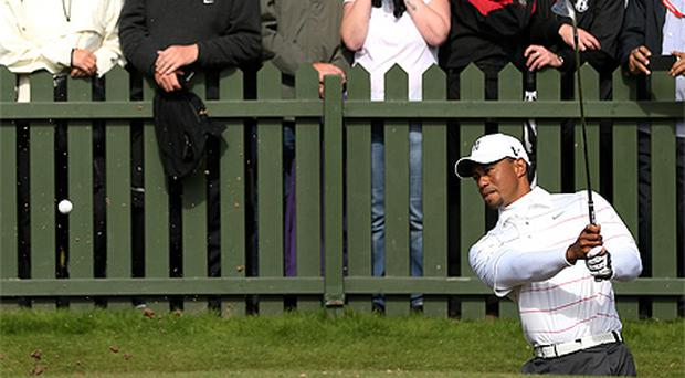 Tiger Woods in action during round one of The Open