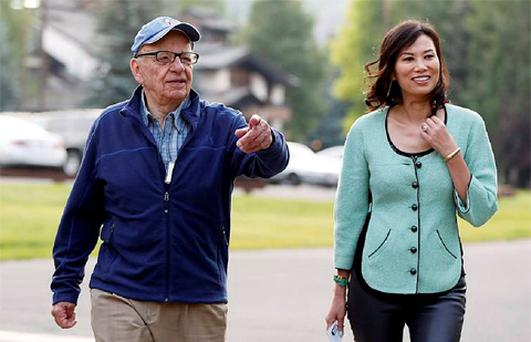 News Corp Chief Executive and Chairman Rupert Murdoch and his wife Wendi Deng attend the Allen & Co Media Conference in Sun Valley, Idaho. Photo: Reuters