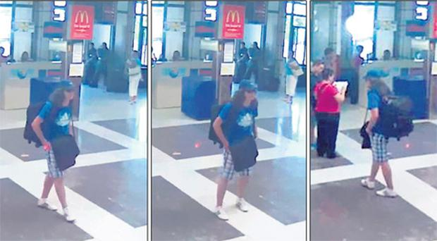 CCTV stills show the suspected bomber at the airport in Bulgaria.