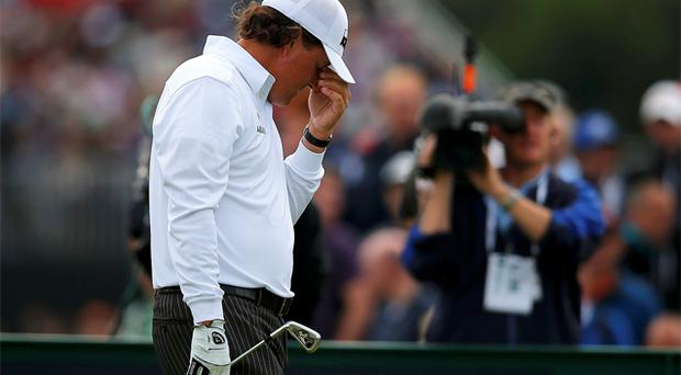 Phil Mickelson finished 11 over par. Photo: Reuters