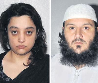 Shasta Khan ( left), a hairdresser who was jailed yesterday for planning a terrorist attack on Manchester's Jewish community, and (right) her husband Mohammed Khan