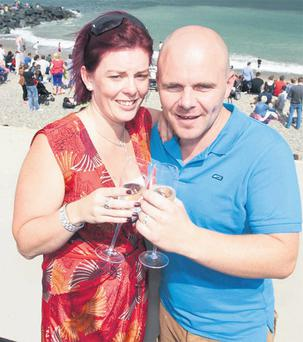 Liz Donohue who proposed to Damien Murphy.