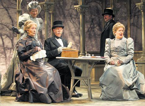 Deirdre Donnelly, Cathy Belton, Tom Hickey, Michael James Ford and Marion O'Dwyer in Oscar Wilde's 'A Woman Of No Importance'.