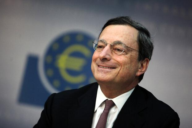 Italian president of European Central Bank (EZB) Mario Draghi speaks during a press conference in Frankfurt am Main, western Germany, on July 5, 2012. The European Central Bank, which cut its key interest rates to new all-time lows, did not discuss any further