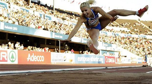 Expelled: Paraskevi Papachristou will not compete in London following a racist tweet Photo: AP