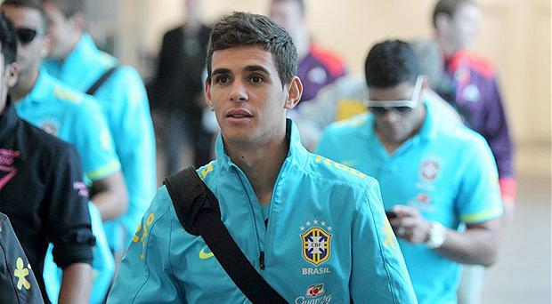 Bound for the Bridge: Oscar is currently part of Brazil's Olympic squad. Photo: PA