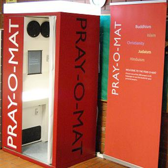 The University of Manchester now has a multi-faith praying booth (Manchester University/PA)