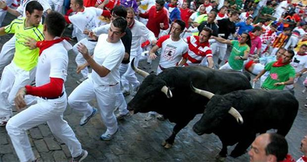 'El encierro' or 'The Bull Run'.