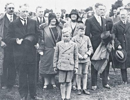 Clockwise from main, a young Liam Cosgrave (on right) with his brother Michael and his parents, WT Cosgrave and his wife Louisa, at the official opening of Ardnacrusha power station on July 22, 1929