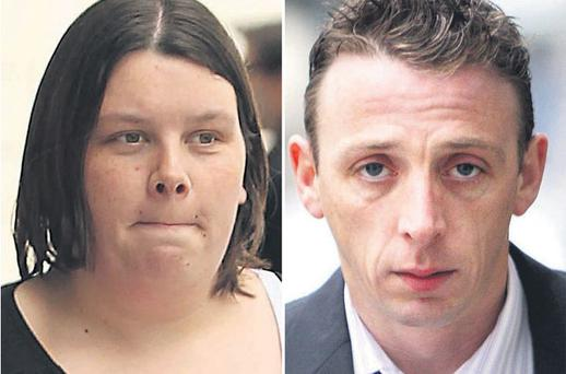 Grieving mother Leona Murphy (left) submitted an emotional victim impact statement to the court yesterday after Philip Doyle (right) was convicted of killing baby Ross