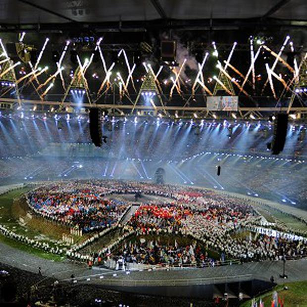 Fireworks during the London Olympic Games 2012 opening ceremony