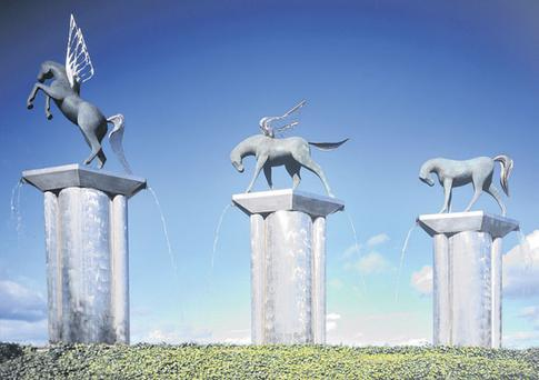 WONDERFUL: Conor Fallon's sculpture 'Pegasus' at City West in Dublin