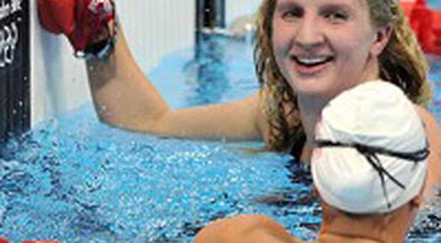 Rebecca Adlington qualified for the women's 400m freestyle final in eighth spot. Photo: PA