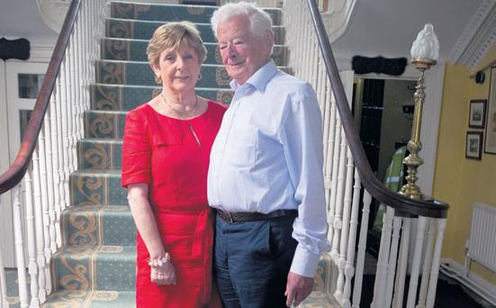 THEIR SECOND ACT: Paddy O'Keeffe, 89, and Jane O'Callaghan, 73, are due to be married in October. Their first date was in January this year. When Paddy rang Longueville House, Jane thought he might be complaining about the beef. Instead he was asking her out to dinner. Photo: Michael Mac Sweeney