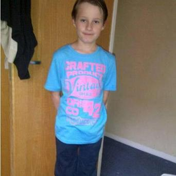 Nine-year-old Joshua Brent who is missing. Photo: PA