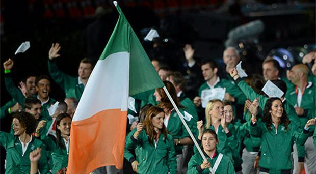 Irish athletes, led by Katie Taylor.