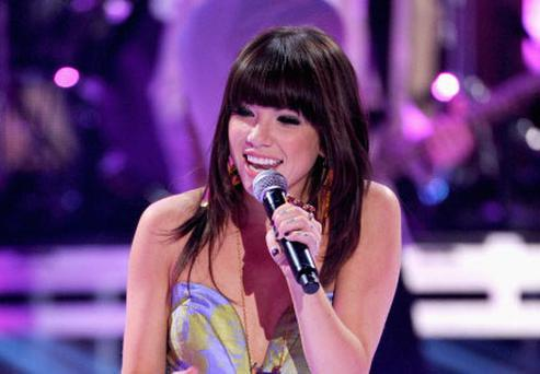 UNIVERSAL CITY, CA - JULY 22: Singer Carly Rae Jepsen performs onstage during the 2012 Teen Choice Awards at Gibson Amphitheatre on July 22, 2012 in Universal City, California. (Photo by Kevin Winter/Getty Images)