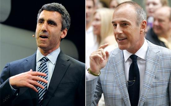 Gary Zenkel and Matt Lauer, who is one of the faces of NBC's coverage of the London 2012 Olympics