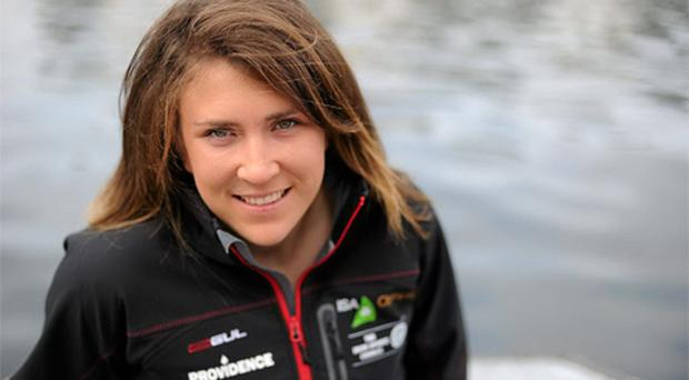 In attendance at the announcement that Providence Resources is the sponsor of the Irish Olympic Sailing Team is Laser Radial sailor Annalise Murphy.
