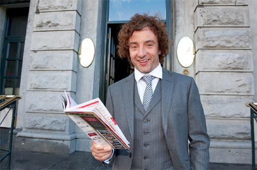Ireland and Wolverhampton soccer player Stephen Hunt stops off at Hotel Meyrick before joining sports personalities from the field of soccer and rugby at the opening day of Galway Races.