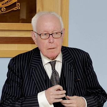 His Honour Mr Justice Peter Smithwick chairs a session of the Smithwick Tribunal in Dublin