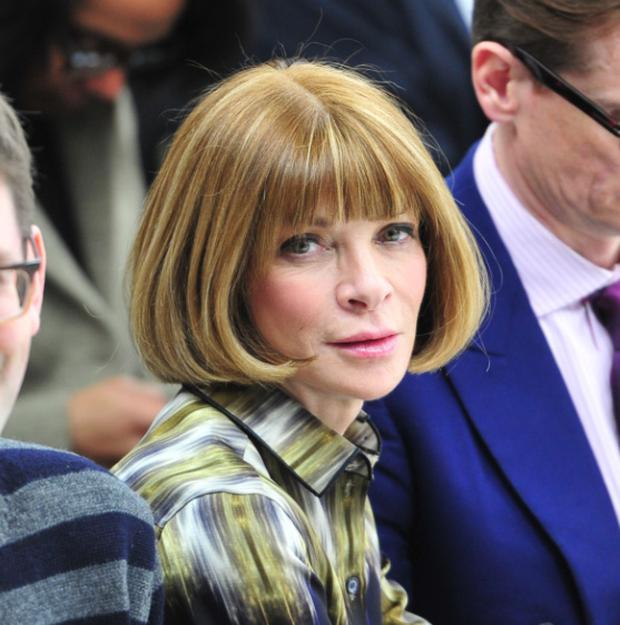 Anna Wintour sharing her styling talents with 'Glee'.