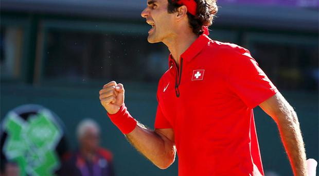 Roger Federer after his victory today.