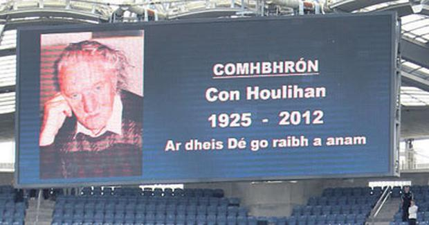 The late Con Houlihan is remembered yesterday at Croke Park
