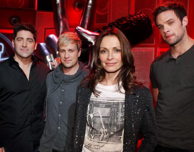Coaches Brian Kennedy, Kian Egan, Sharon Corr and Bressie on the set of The Voice of Ireland in The Helix