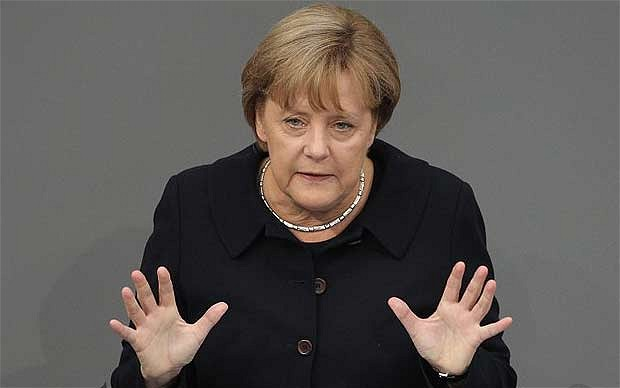 Il Libero published a front-page picture of Chancellor Angela Merkel under the headline