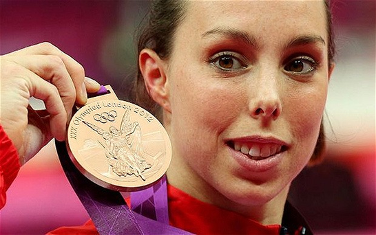 Beth Tweddle, who won a bronze medal in gymnastics, said Lottery funding made all the difference. Photo: ACTION IMAGES