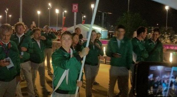 At the Olympic Opening Ceremony