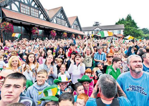 Adoring fans in Katie Taylor's home town of Bray.