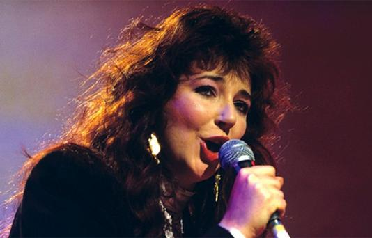 Kate Bush performing at the London Palladium