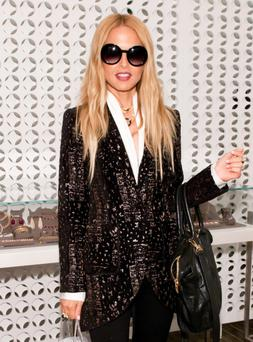 VANCOUVER, BC - AUGUST 09: Celebrity stylist and fashion designer Rachel Zoe brings her fall 2012 collection to VancouverÃs Holt Renfrewstore on August 9, 2012 in Vancouver, Canada. (Photo by George Pimentel/Getty Images)