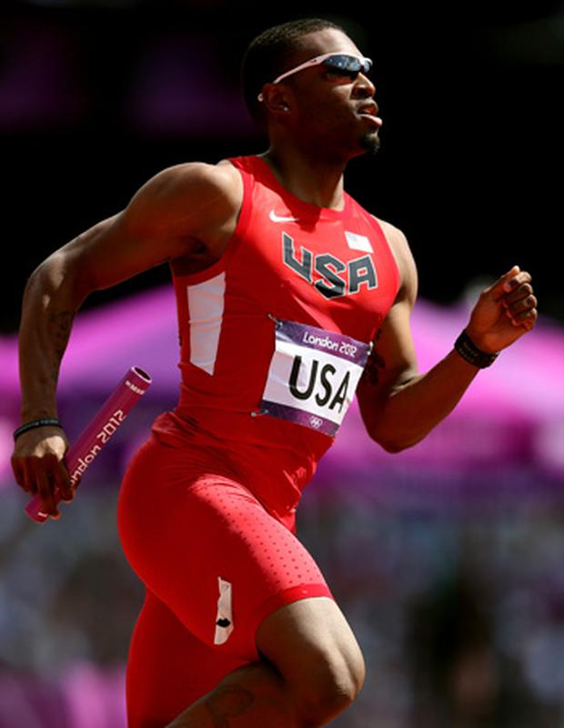 Manteo Mitchell of the United States competes during the Men's 4 x 400m Relay Round 1 heats on Day 13 of the London 2012 Olympic Games at Olympic Stadium on August 9, 2012. Photo: Getty Images