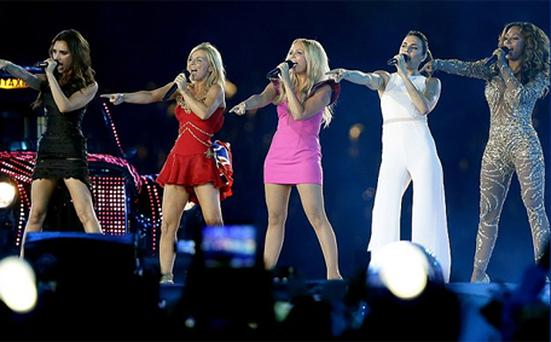 All i really want: the Spice Girls reform for a song. Photo: AP
