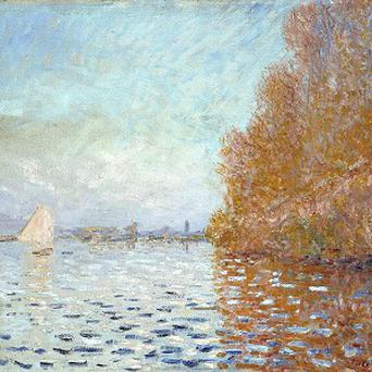 Claude Monet's Argenteuil Basin With A Single Sailboat was seriously damaged by a member of the public at the National Gallery of Ireland