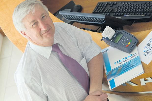 Gerry Barry, founder and driving force behind Fintrax, a financial services company which provides payment process systems and tax-back services to tourists. DAVID RUFFLES