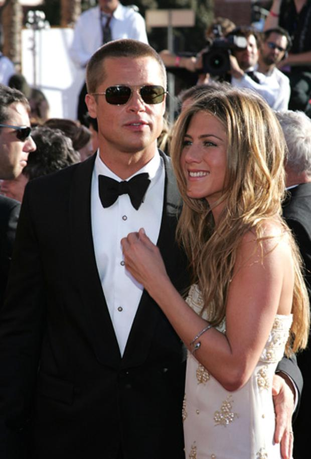 Brad Pitt and Jennifer Aniston at the 2004 Emmys