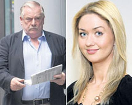 CONTROVERSY: 'Sunday Independent' reporter Niamh Horan, right, and Priory Hall developer Tom McFeely left