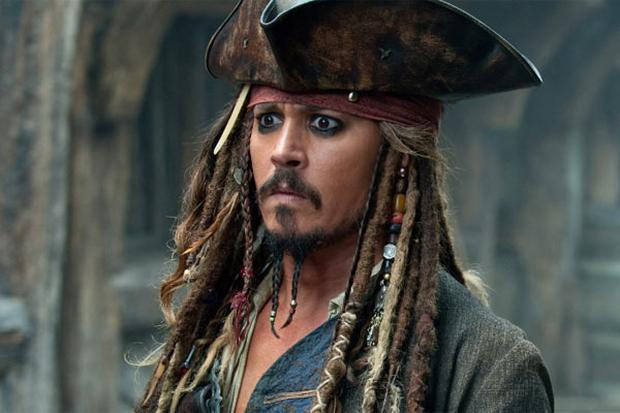 Johnny Depp in character as Jack Sparrow