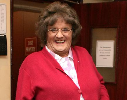 Brendan O'Carroll before he goes on stage of his latest play For the Love of Mrs Brown