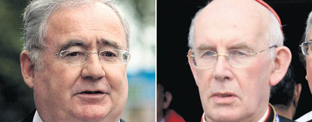Cardinal Brady has been rebuked by Labour's Pat Rabbitte