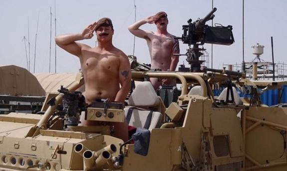 Military personnel have been showing their support for Prince Harry by posting pictures of themselves performing nude salutes on the facebook site - 'Support Prince Harry with a naked salute!' Photo: Facebook