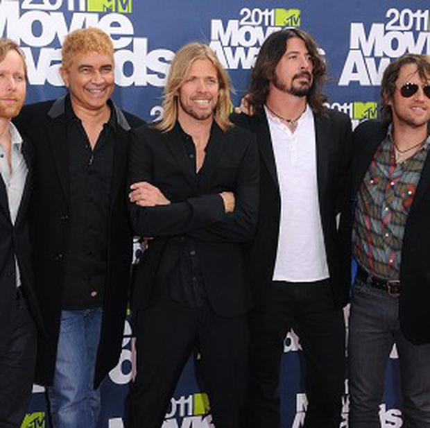 Dave Grohl sparked rumours the Foo Fighters were splitting.