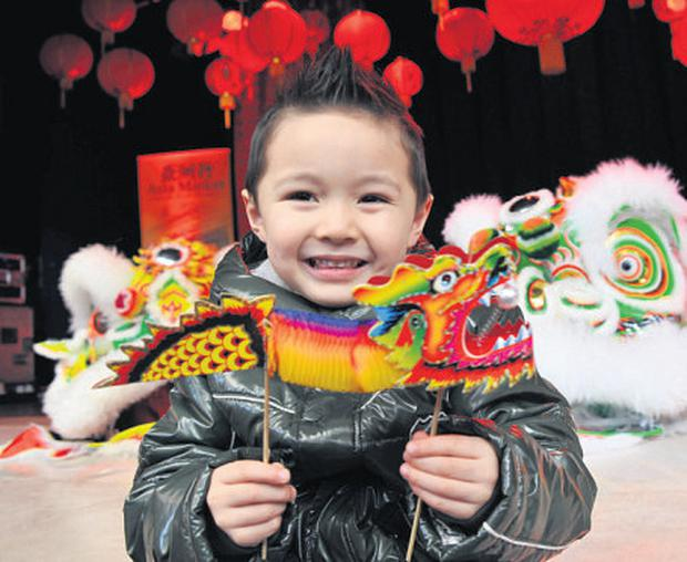 Zack Oprey from Tallaght celebrates the Chinese New Year in Meeting House Square, Temple Bar, Dublin, earlier this year