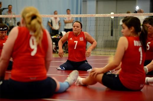 Great Britain's Martine Wright (7) during the Women's Sitting Volleyball